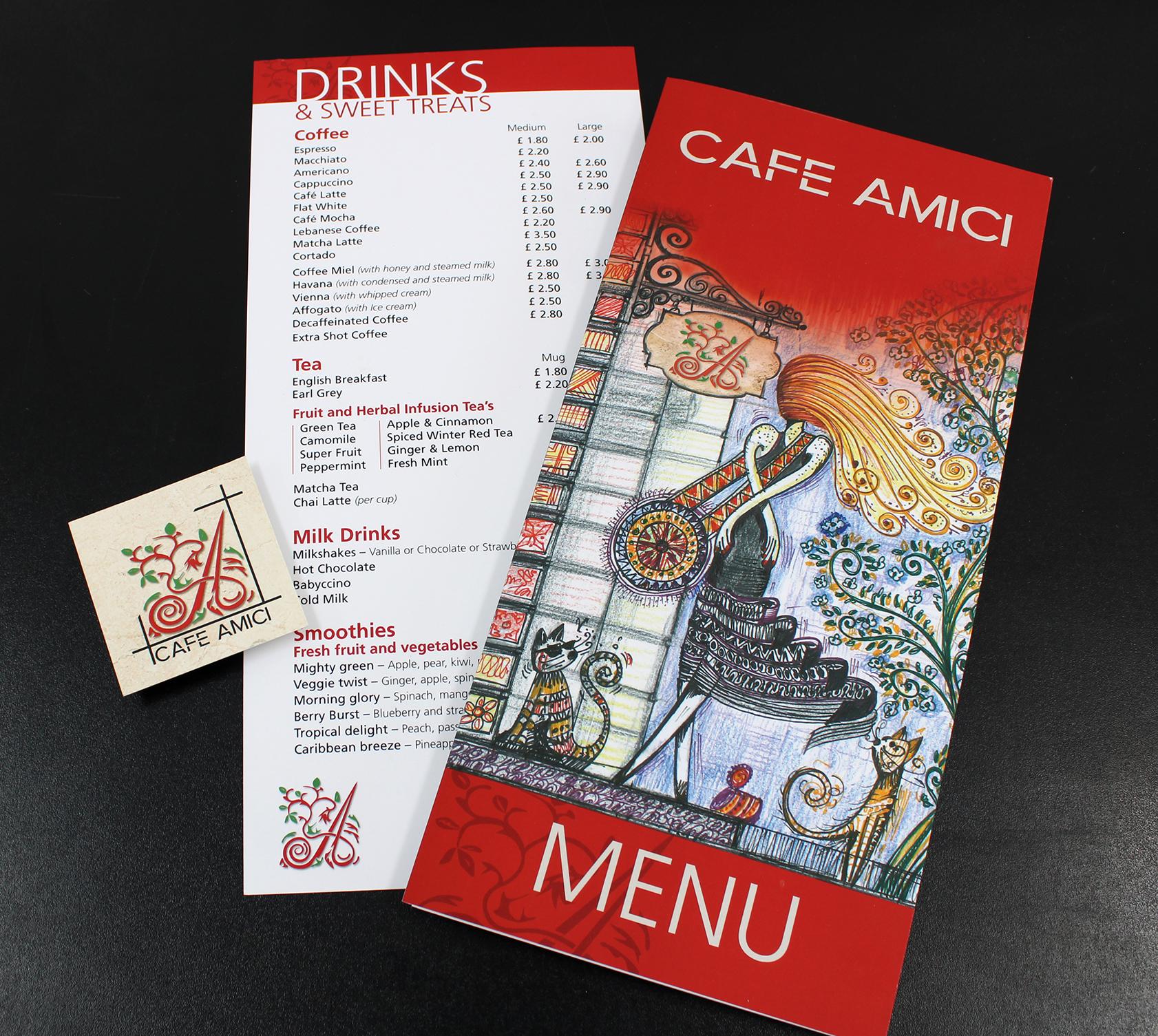 Cafe Menu Design & Branding