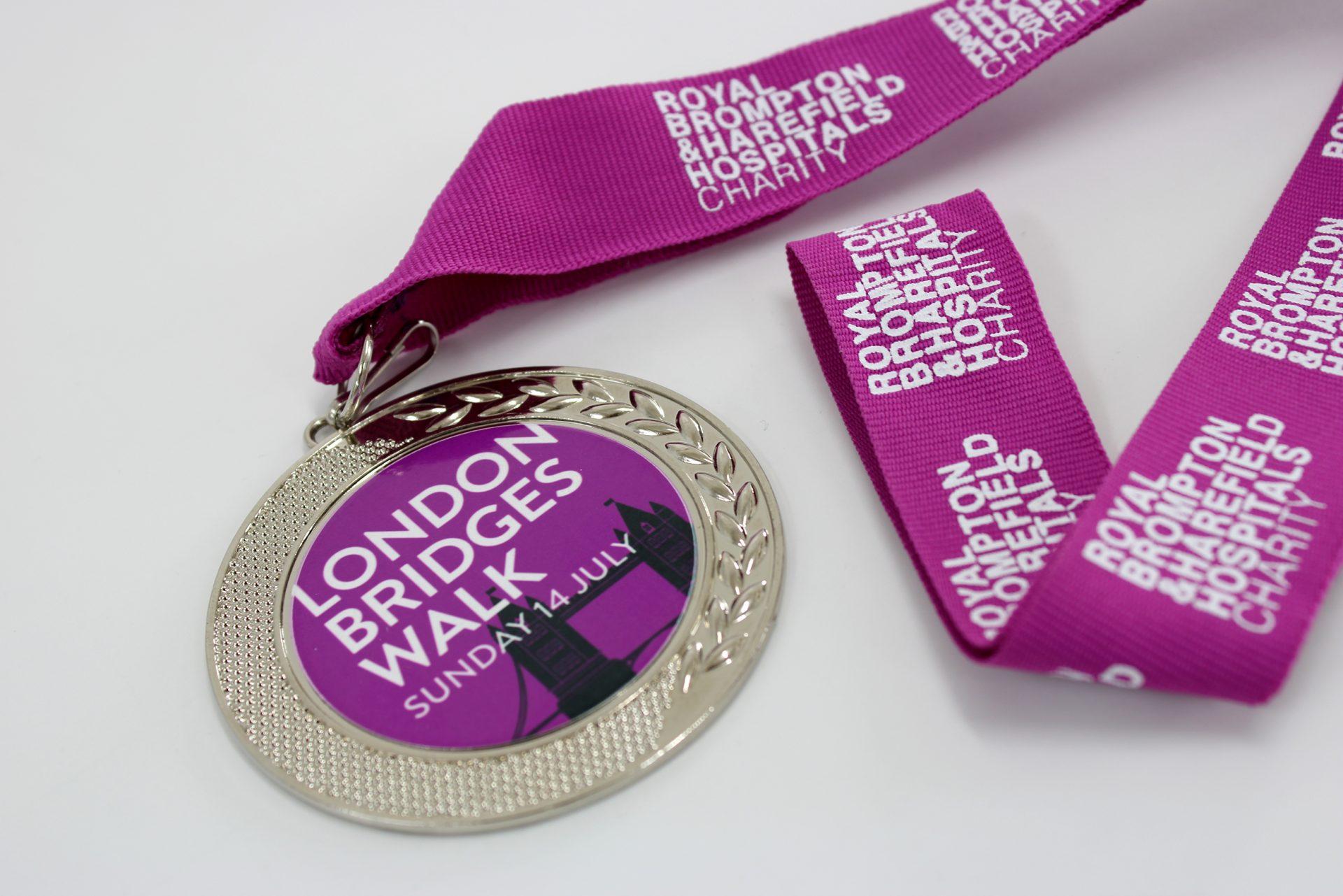 NHS London Charity Walk Branded Medal