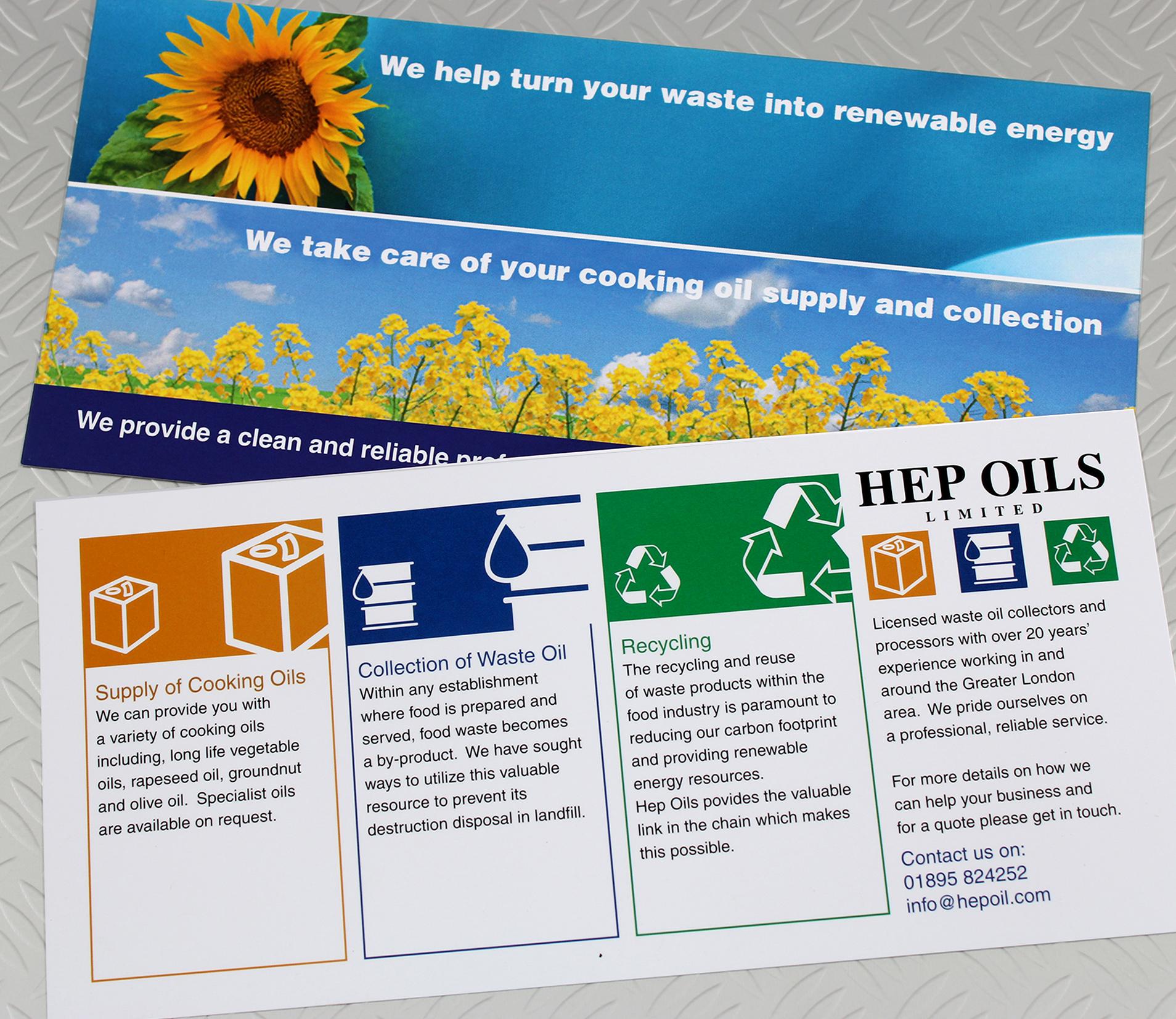 Hep Oils Leaflet Design